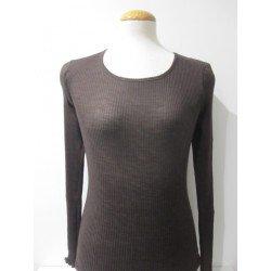 camiseta de lana y seda de...